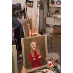 Cours de portrait à l'huile - Paris 17